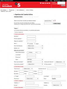 Contratar Depósito Activobank 2