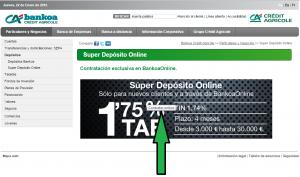 Contratar depósito Bankoa online