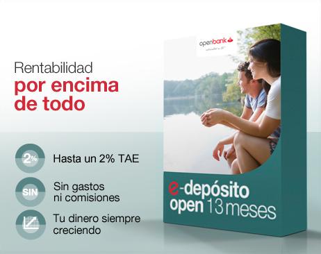 Openbank RENTABILIZAR E-DEPOSITO 13 meses
