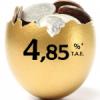 Depósito 12 meses 4,85% TAE de Banco Finantia Sofinloc